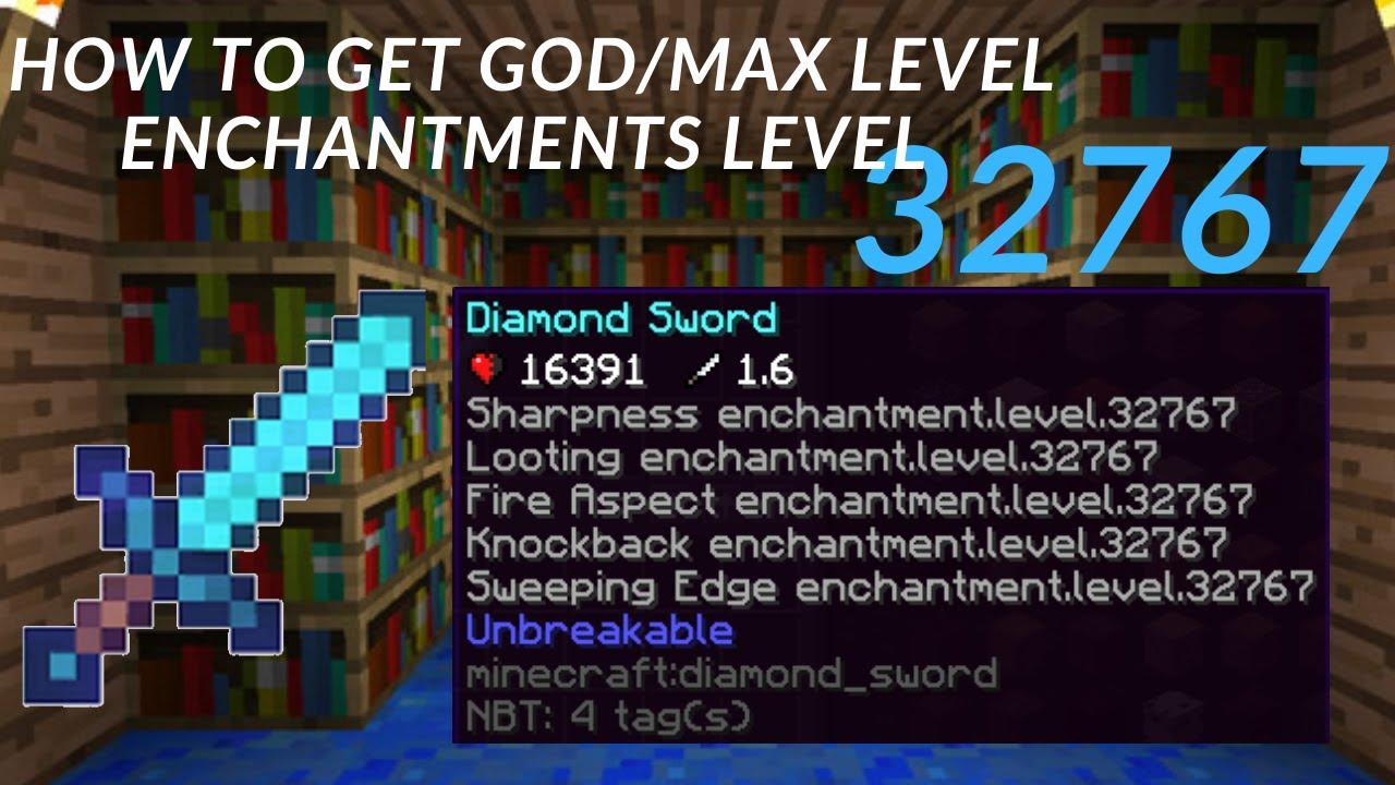 Minecraft max enchantment level command