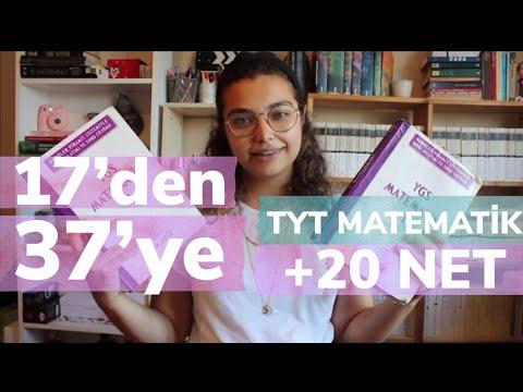 1 AYDA 17'DEN 37 NETE ÇIKTIM | TYT Matematik için neler yaptım? Bir ayda 20 net artırmak? | 2019