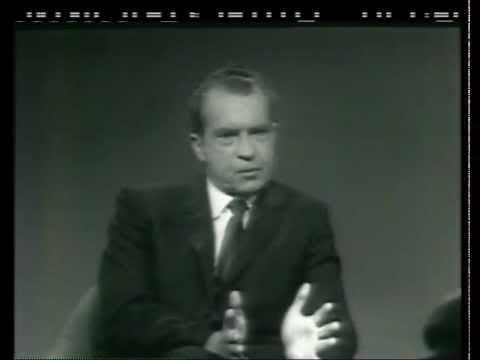Future Pres. Nixon on Face the Nation
