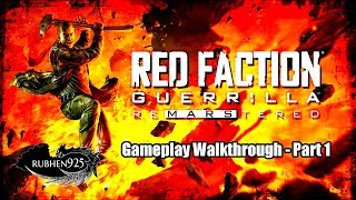 RED FACTION: GUERRILLA RE-MARS-TERED (PS4 PRO) Gameplay Walkthrough Part 1