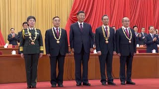 President Xi Jinping awards China's top honors to four renowned specialists