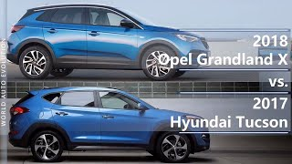 2018 Opel Grandland X vs 2017 Hyundai Tucson (technical comparison)