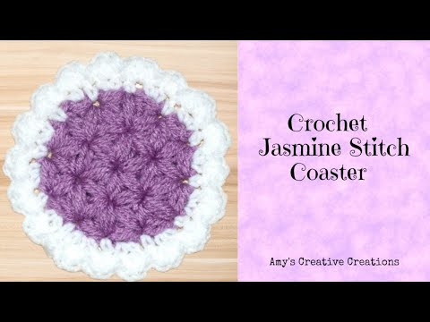 Crochet Jasmine Stitch Pattern : Crochet Jasmine Stitch Coaster Tutorial Jasmine Stitch Coaster Pattern ...