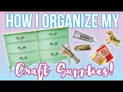 MY CRAFT SUPPLY COLLECTION! How I Organize My Craft Supplies