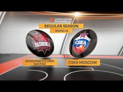 Highlights: Baskonia Vitoria Gasteiz-CSKA Moscow