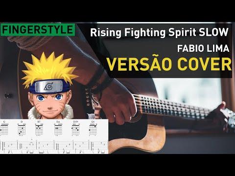 NARUTO - Rising Fighting Spirit SLOW Violão E Guitarra Tutorial TAB
