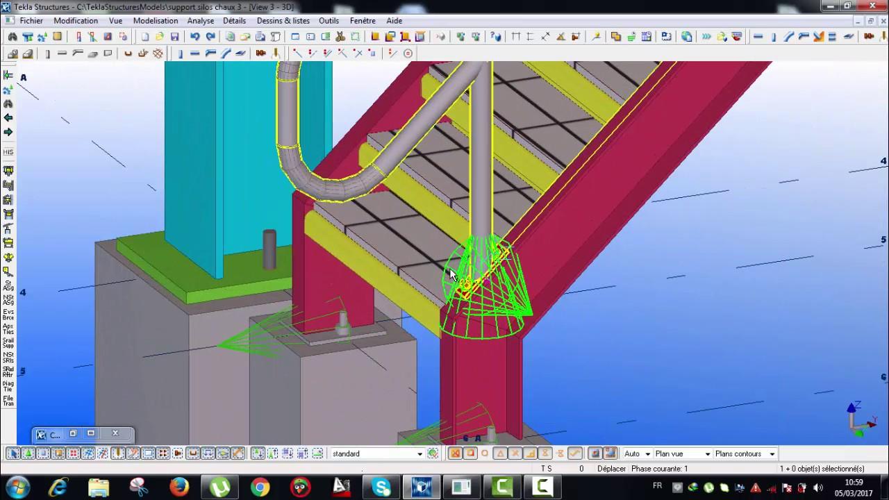 Leçon 25 support silos chaux : la suite de leçon 24-Escalier-garde corps-