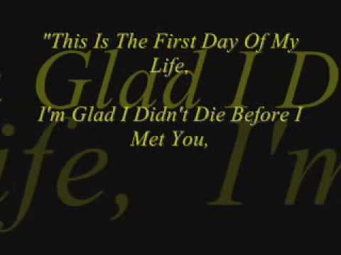 Bright Eyes - First Day Of My Life - Lyrics