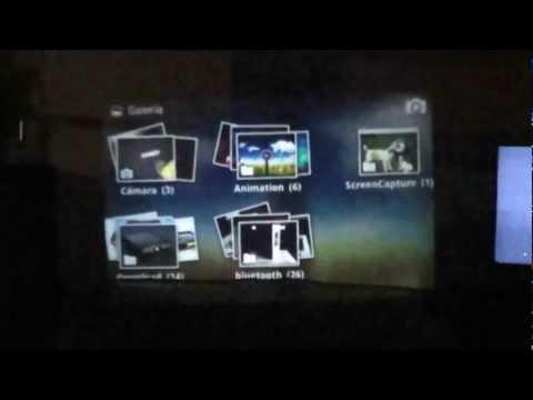 Probando el Proyector del Samsung Galaxy Beam i8530