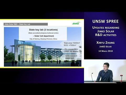 UNSW SPREE 201803-14 Xinyu Zhang - Updates regarding Jinko Solar R&D activities