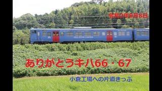 ありがとう国鉄急行型 側面 キハ66   67 5・11ユニット 鹿児島本線東郷 干東福間  令和2年11時頃
