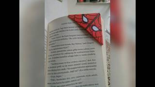KİTAP AYRACI YAPIMI ( spiderman origami bookmark)