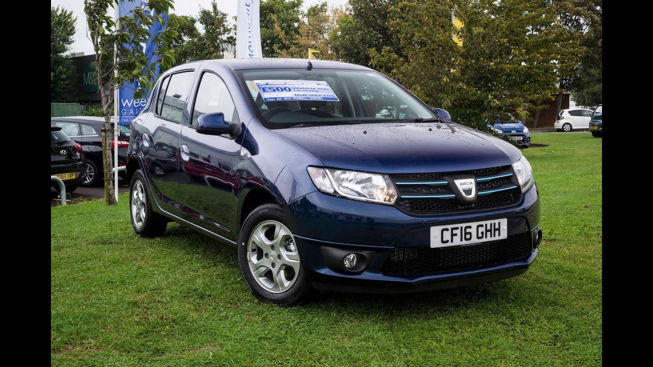 pre reg dacia sandero stepway 1 5 dci laureate 5dr petrol manual cf16ghh cosmos blue youtube. Black Bedroom Furniture Sets. Home Design Ideas
