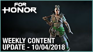 For Honor: Week 10/04/2018 | Weekly Content Update | Ubisoft [NA]