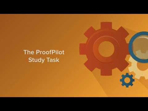 Working with ProofPilot Study Tasks