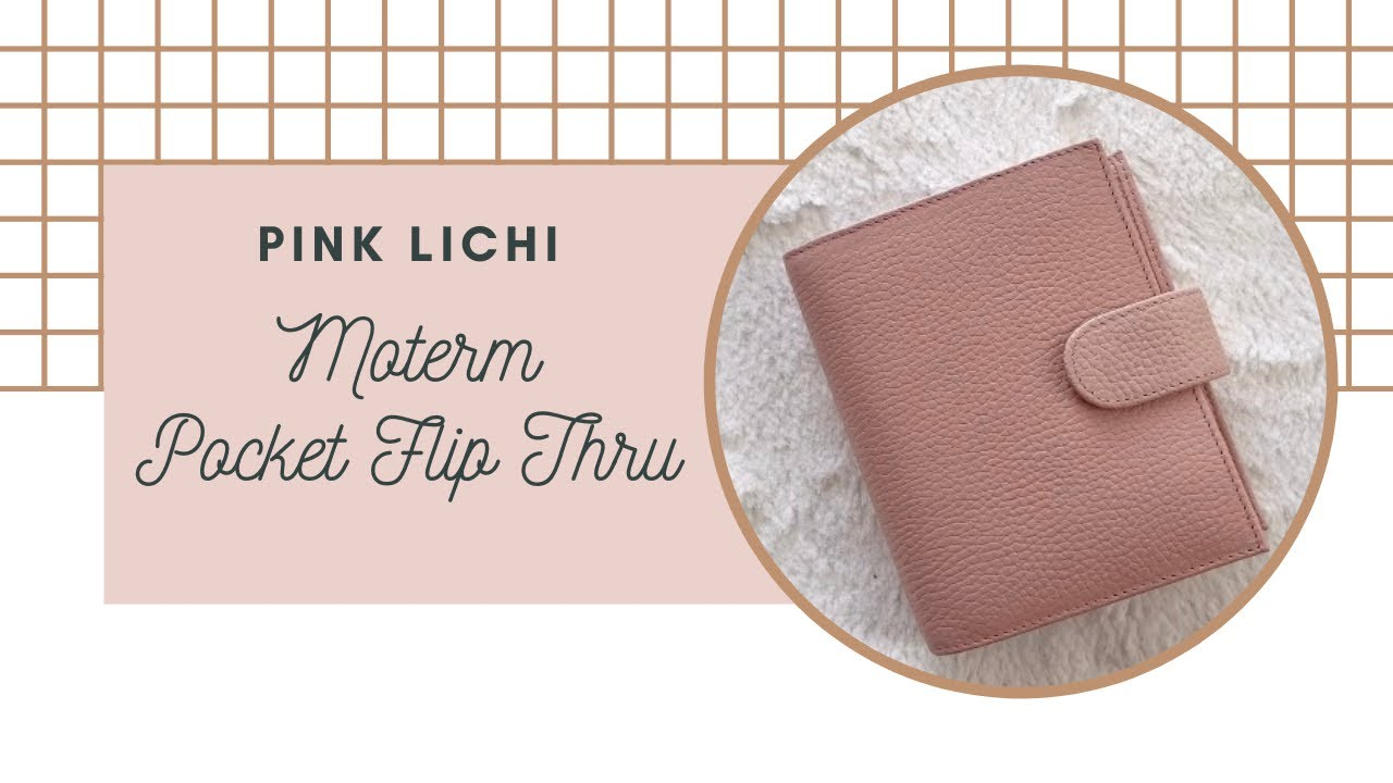Pink Lichi Moterm Pocket Flip Thru