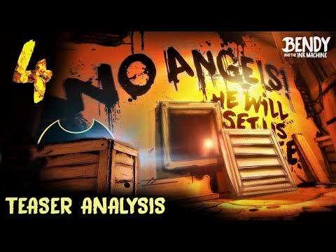 NEW BATIM Chapter 4 Teaser Analysis! (Bendy & the Ink Machine Chapter 4 Analysis)