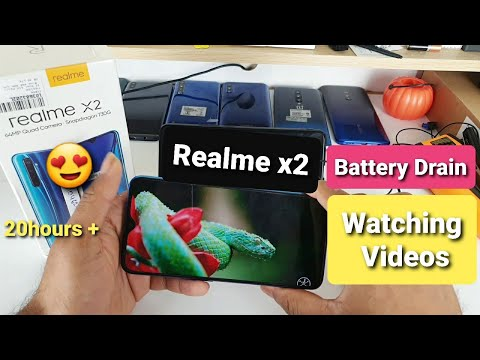 realme-x2-battery-draining-watching-videos
