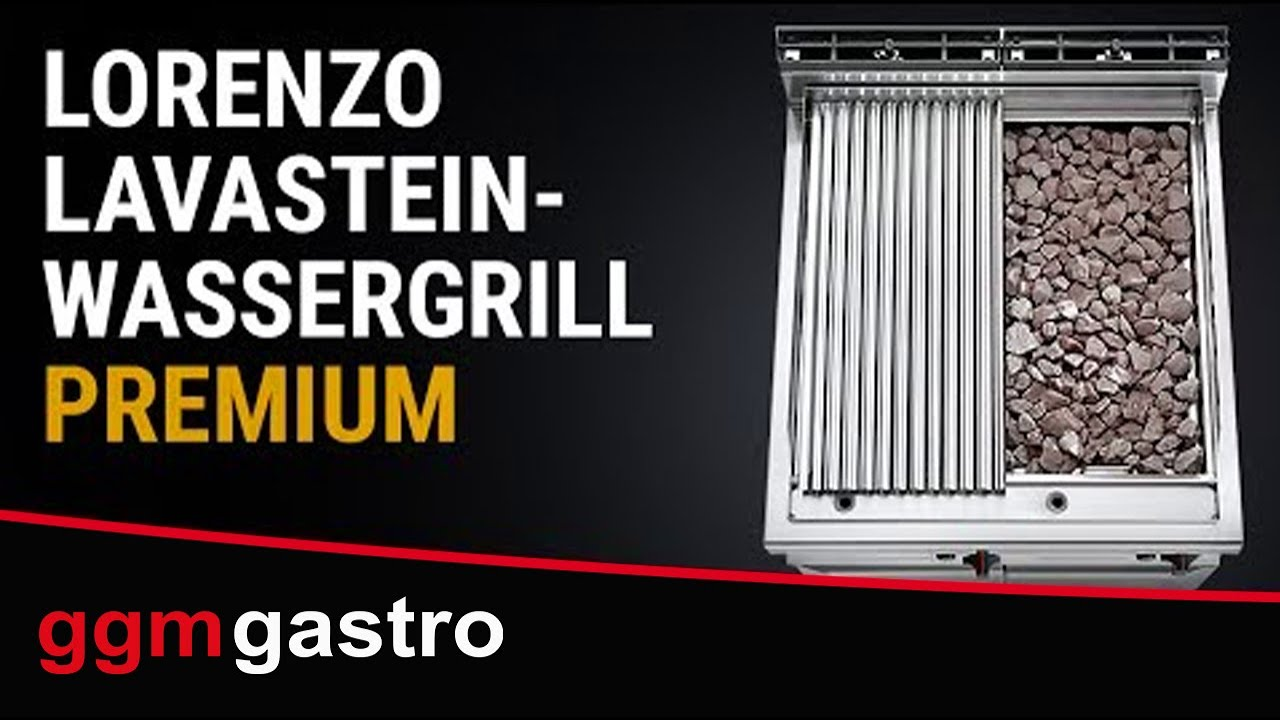 lavastein und wassergrill ggm gastro youtube. Black Bedroom Furniture Sets. Home Design Ideas