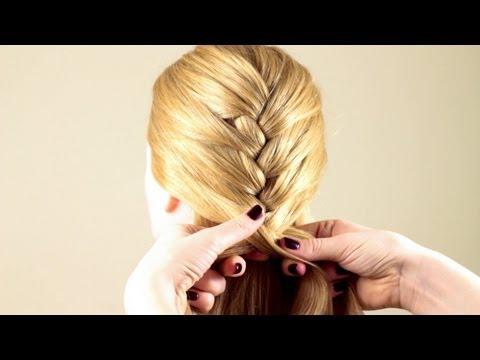 Обычная французская коса. Basic french braid