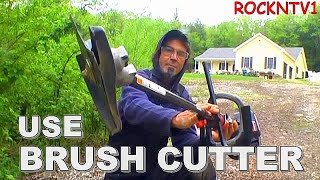 Using The Sears Brushcutter attachment Sears craftsmen 32 cc