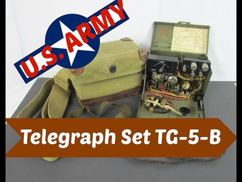 WWII Telegraph Set TG-5-B with Canvas Bag WW2 US Army Military