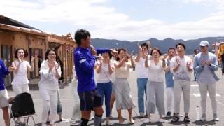 さんさん商店街で開催していたゴスペルコンサートに、千葉和彦選手と高...