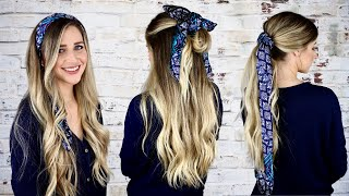 HOW TO WEAR A HAIR SCARF | 3 Quick & Easy Ways
