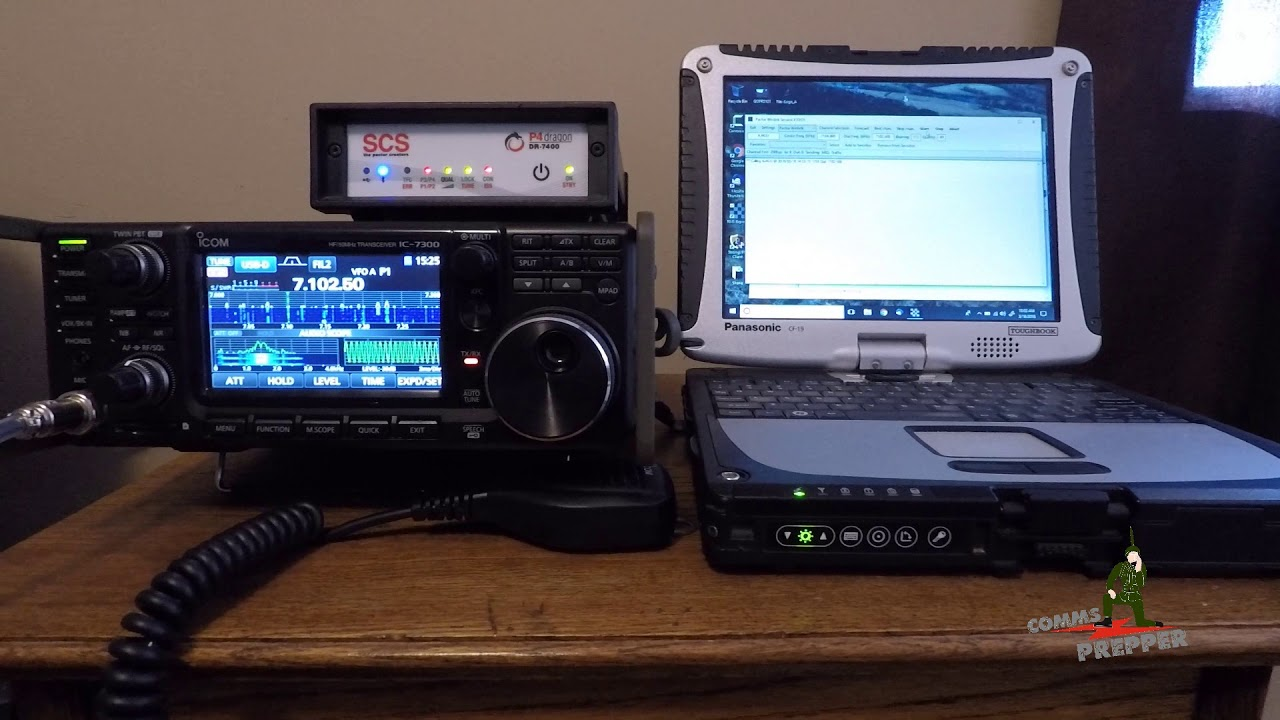 HF Pactor connection to Winlink demonstration