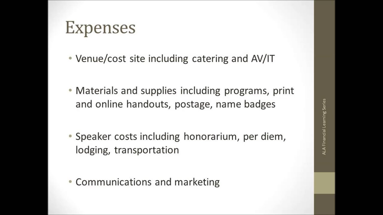 budget planning for pre conference or other one time events youtube