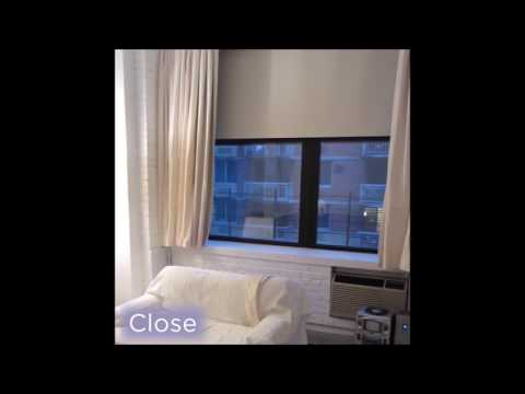 Motorized 1% Privacy Screen Shades & Drapes Installation
