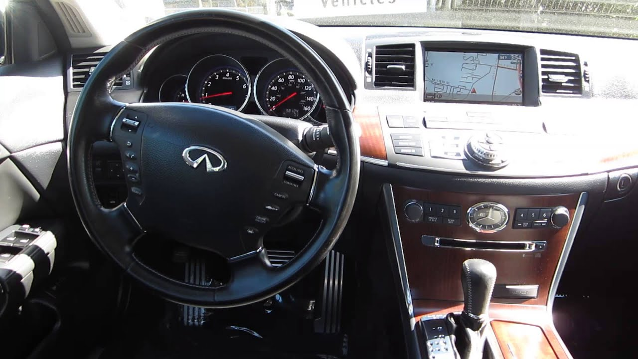 2008 infiniti m45 black obsidian stock 5179 interior. Black Bedroom Furniture Sets. Home Design Ideas