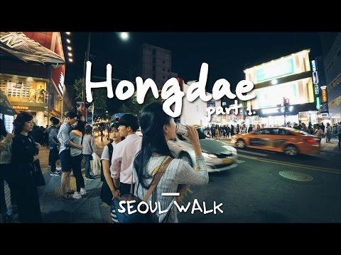 Seoul Walk: Hongdae (홍대), @Line 2 & airport - Seoul, South Korea [4K]