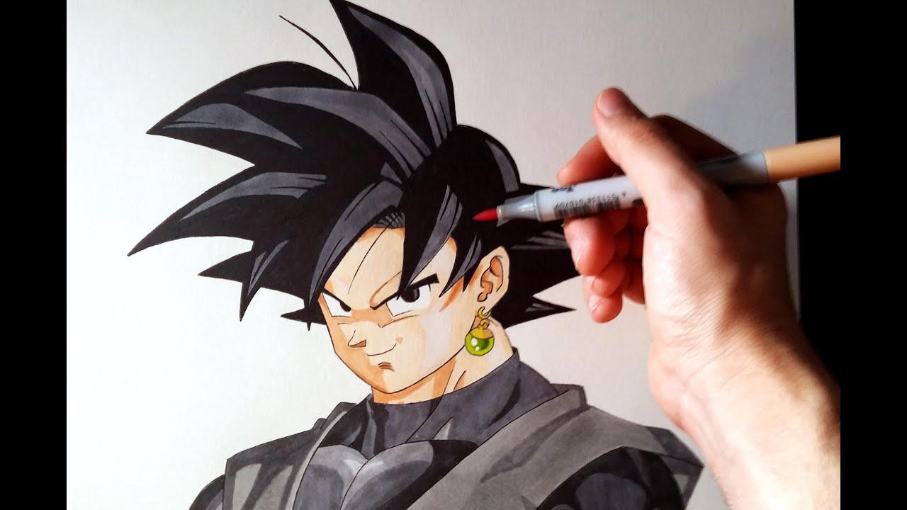 Cómo Dibujar A Goku Black De Dragon Ball Super