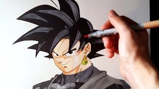 Cómo dibujar a Goku Black de Dragon Ball Super | How to draw Goku Black DBS | ArteMaster