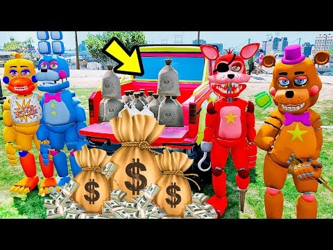 ANIMATRONICS O GRANDE ASSALTO A BANCO MILIONÁRIO? | GTA V Five Nights at Freddy's thumbnail