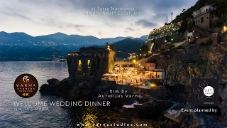 Video Torre Normanna Amalfi Coast Wedding Welcome Dinner Film Nikita and Maria 4K UHD download MP3, 3GP, MP4, WEBM, AVI, FLV Agustus 2018