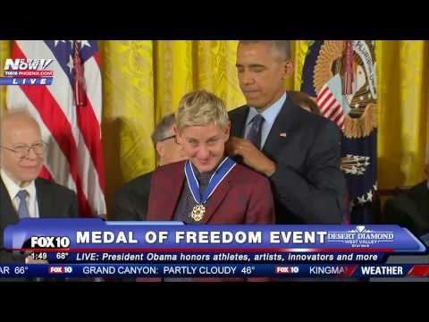MUST WATCH: Ellen Degeneres IN TEARS, Crying as She Accepts Medal of Honor
