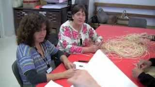 Traditional Indigenous weaving at Shepparton Art Museum