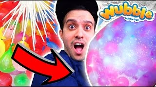 SHOCKING WUBBLE BUBBLE  VS. 100 WATER BALLOONS EXPERIMENT!! GUAVA JUICE INSPIRED!!