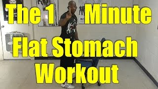 60 Second Flat Stomach Workout. Do 3x a Day for a Flatter Stomach