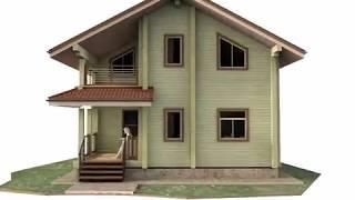 Дачный дом из профилированного бруса 8 х 8 м