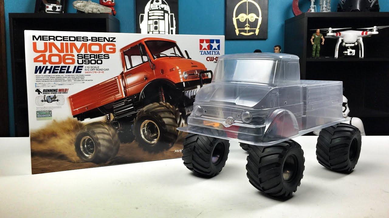 tamiya unimog 406 wheelie cw-01 build series 1 - unboxing - youtube
