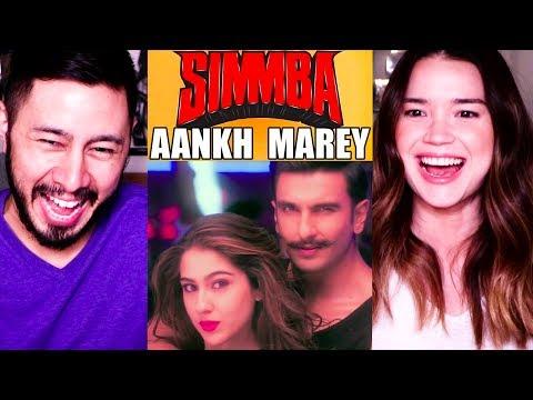 AANKH MAREY | Simmba | Ranveer Singh | Sara Ali Khan | Music Video Reaction!