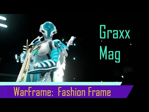 Warframe:  Fashion Frame With The Tennogen Graxx Skin For Mag