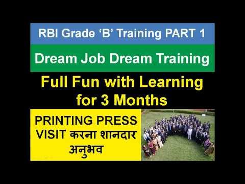 RBI Grade B Training - Dream Job Dream Training - Part 1
