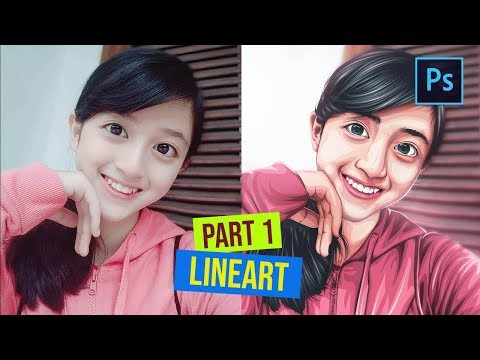 [ Photoshop Tutorial ] How to Cartoonize a Picture in Photoshop - (PART 1 LINEART) thumbnail
