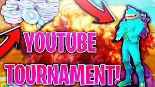 🔴 $100 Fortnite Battle Royale YouTuber TOURNAMENT *LIVE* | Fast Console Builder