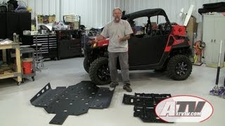 ATV Television Installing Trail Armor Skidplate on Polaris RZR 570
