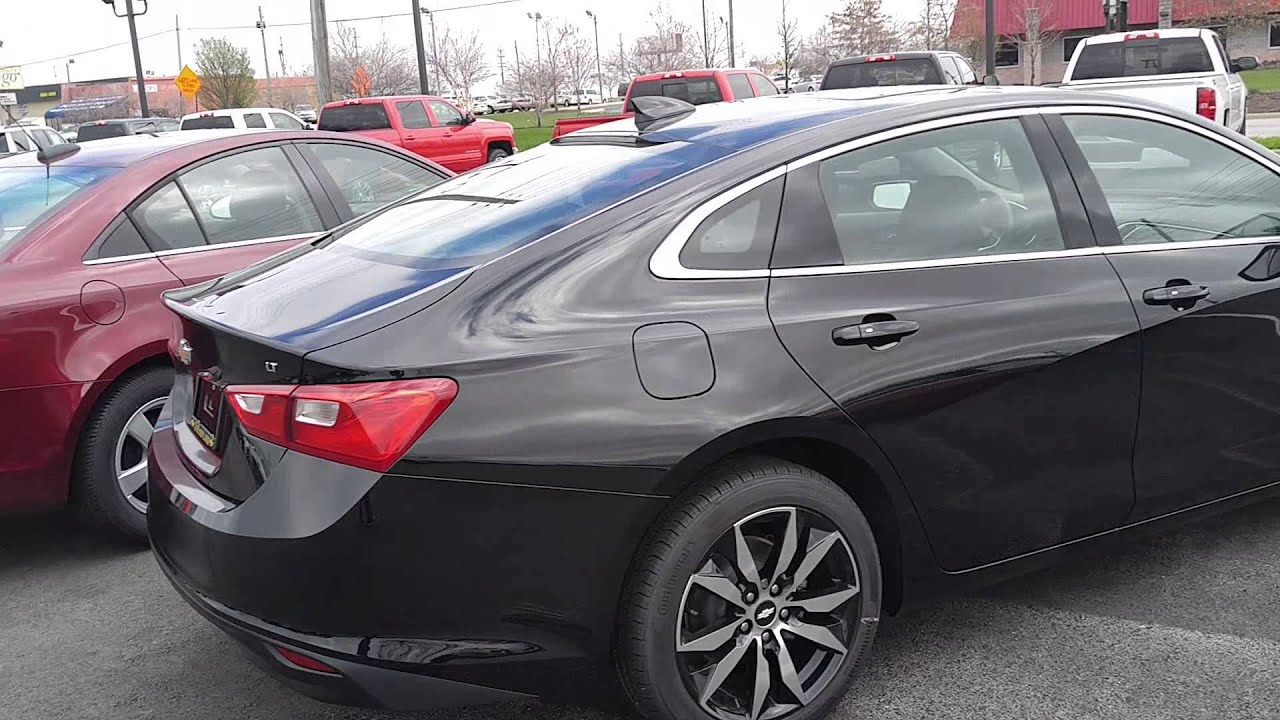 Quick Look At 2016 Chevrolet Malibu With Black Wheels